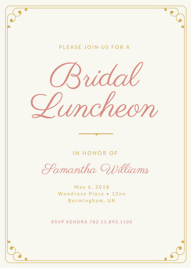 Customize 114+ Luncheon Invitation templates online - Canva