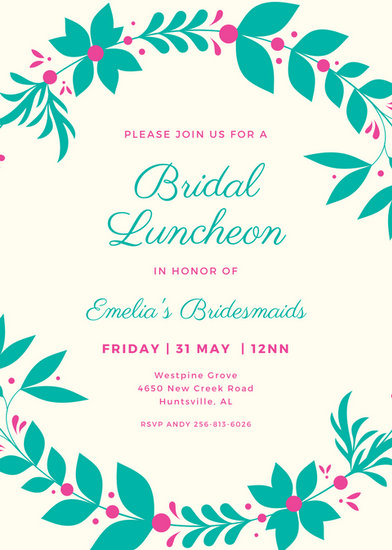 Customize 114+ Luncheon Invitation templates online - Canva - lunch invitation templates