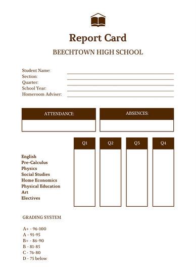 Report Card Templates - Canva - report card