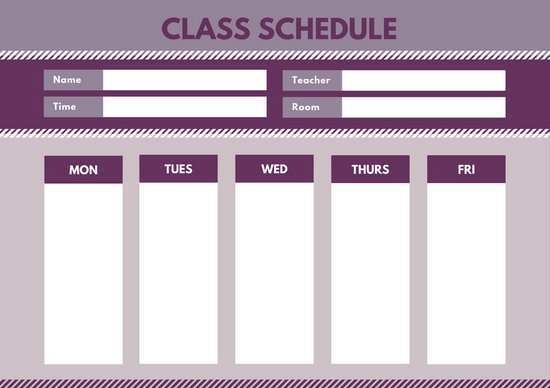 Customize 2,726+ Class Schedule templates online - Canva - school scheduling template
