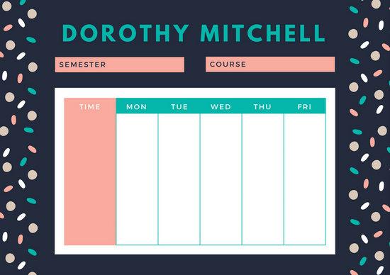 class timetable templateschool class timetable templatejpeg - class timetable template