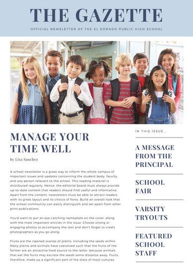 School Newsletter Templates - Canva - school newsletter templates