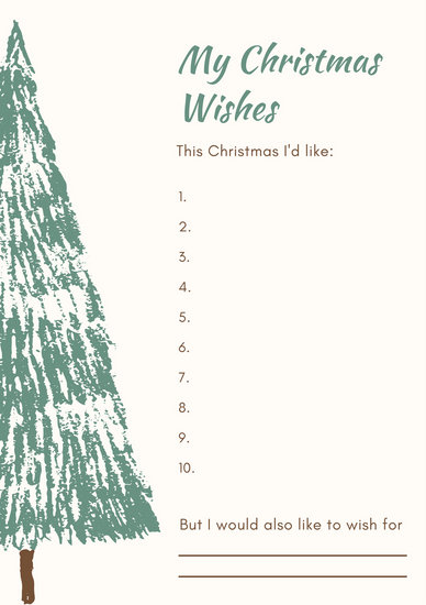 Teal Tree Christmas Wish List - Templates by Canva - christmas wish list templates