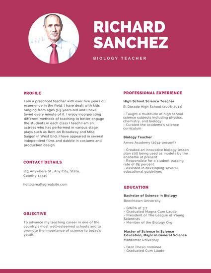 Resume Templates - Canva - photo on resume