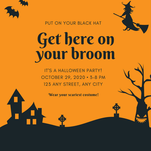 Customize 3,998+ Halloween Party Invitation templates online - Canva - halloween invitation