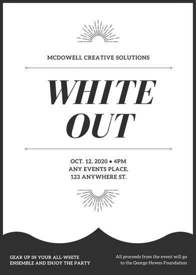 Black and White All White Party Flyer - Templates by Canva - black and white flyer template