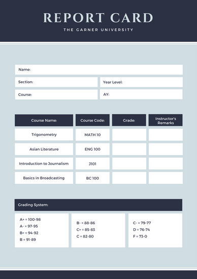 Customize 10,038+ Report Card templates online - Canva - report card template