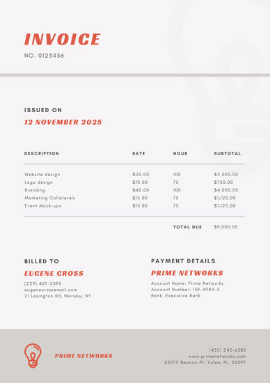 Beige Simple Business Invoice - Templates by Canva