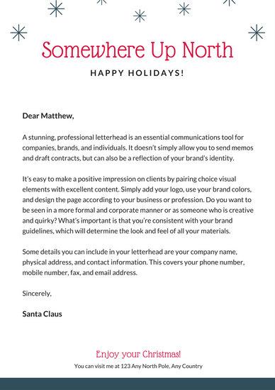 Customize 49+ Santa Letter templates online - Canva