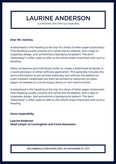 lawyer letterhead templates - Pinarkubkireklamowe