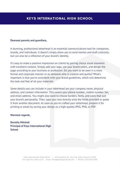 welcome to school letter 3slufsluidsprekers