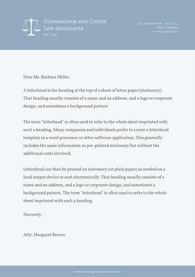 attorney letterhead - Gurekubkireklamowe