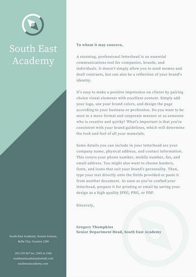 Letterhead Templates - Canva - professional letterhead