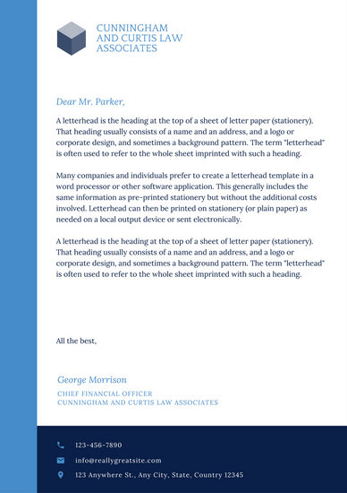 law office letterhead templates - Josemulinohouse