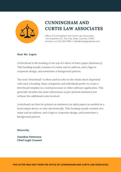 Customize 37+ Law Firm Letterhead templates online - Canva - office letterhead template