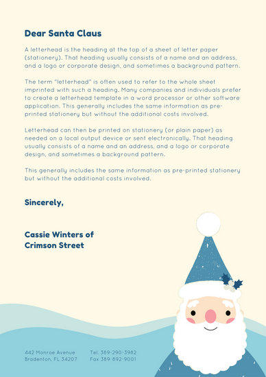 Santa letter template kicksneakers customize 49 santa letter templates online canva spiritdancerdesigns Image collections