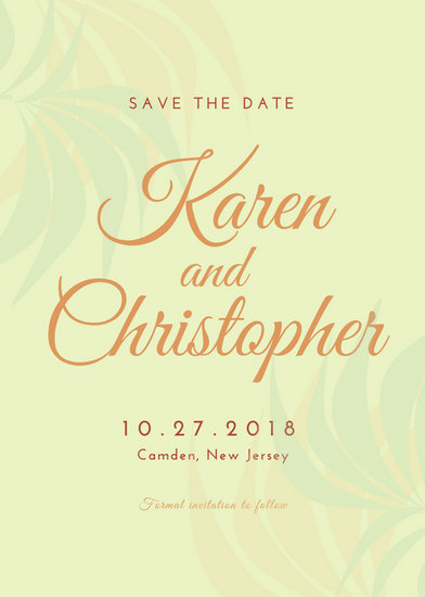 Rustic Wedding Save the Date Invitation - Templates by Canva