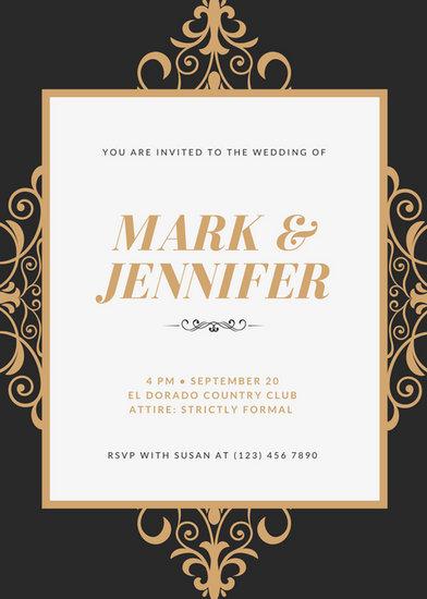 Gold Royal Wedding Invitation - Templates by Canva