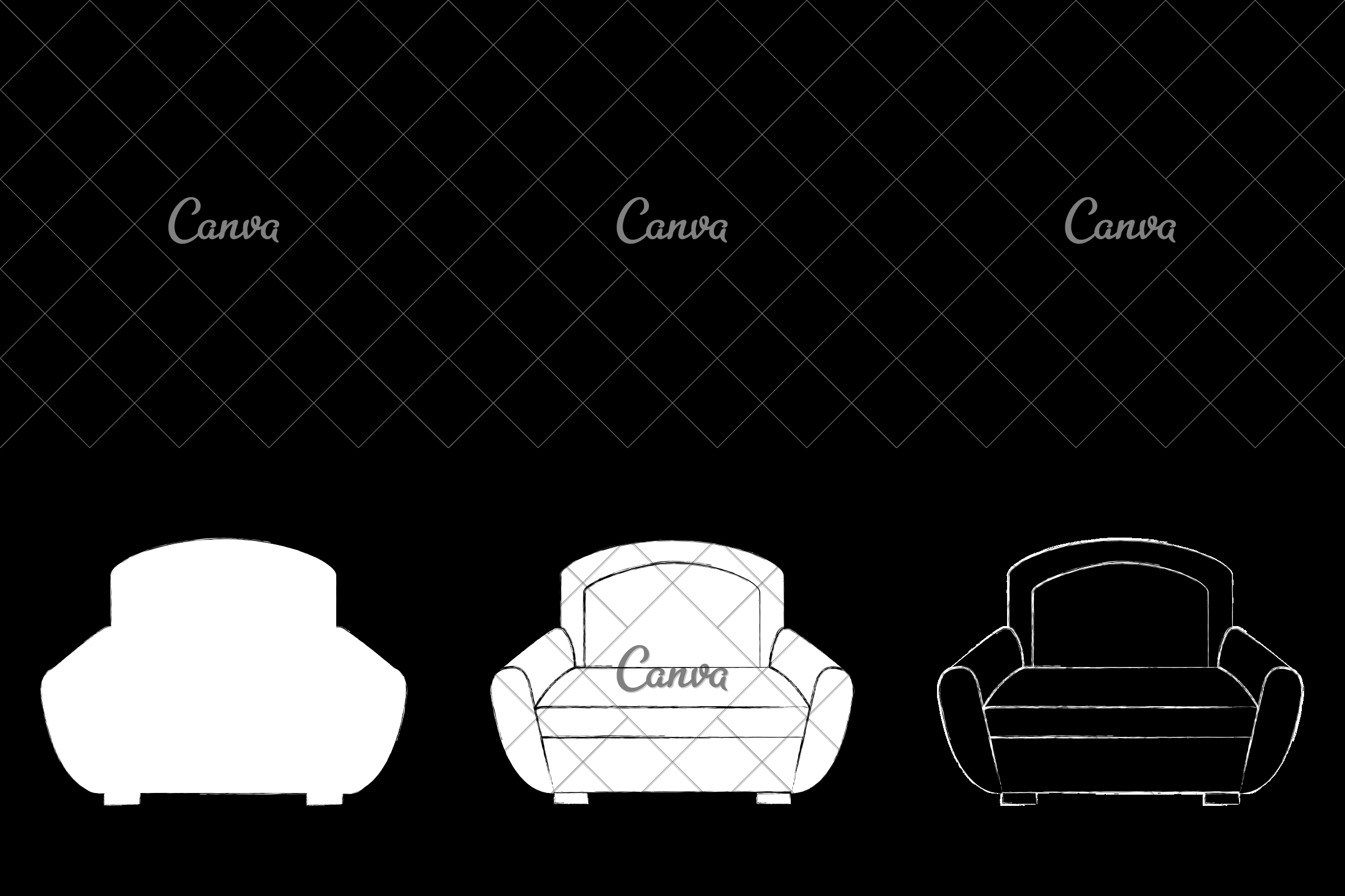Sofa Set Vector Png Sofa Furniture Vector Icon Illustration Icons By Canva