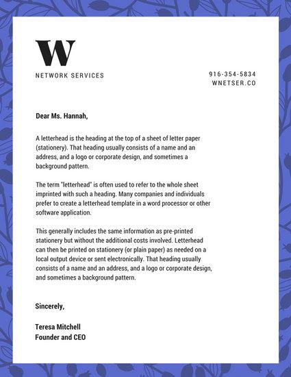Business Letterhead Templates - Canva - professional letterhead