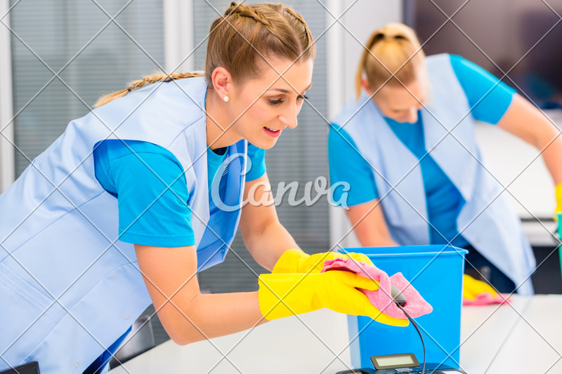 Cleaning Ladies Working in Office - Photos by Canva