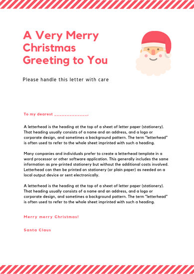 Customize 17+ Santa Letter templates online - Canva