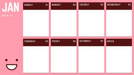 calendar monthly template