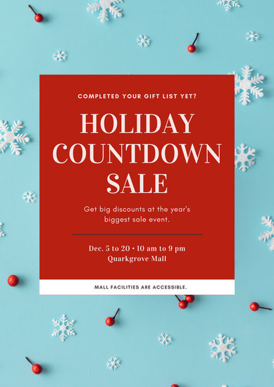 Customize 74+ Holiday Poster templates online - Canva