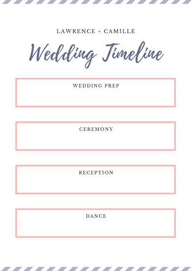 Customize 63+ Wedding Timeline Planner templates online - Canva