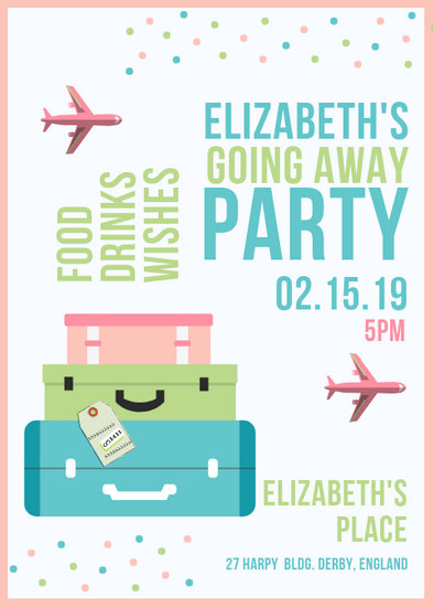 Going Away Party Flyer - Templates by Canva