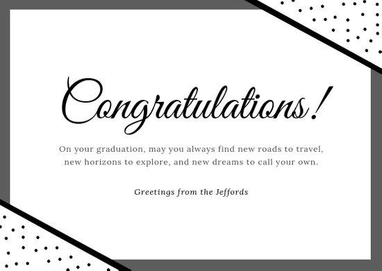 Customize 96+ Congratulations Card templates online - Canva