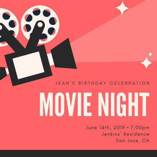 Customize 234+ Movie Night Invitation templates online - Canva