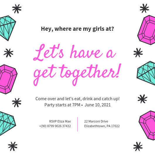 Customize 44+ Get Together Invitation templates online - Canva
