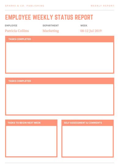 employee weekly report template