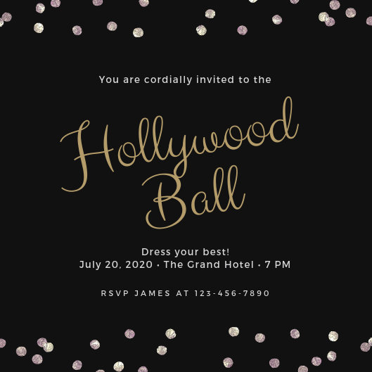 Customize 42+ Hollywood Invitation templates online - Canva