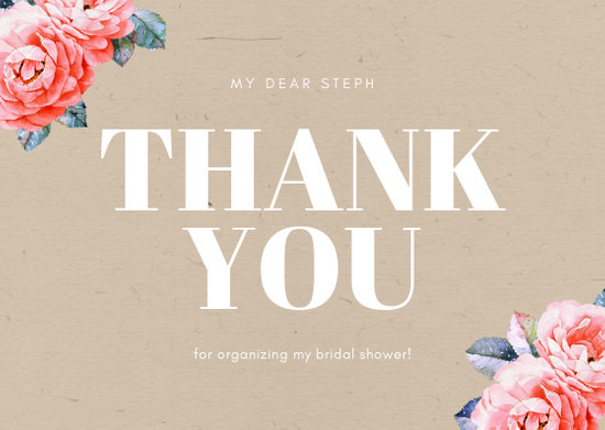 Customize 68+ Bridal Shower Thank You Card templates online - Canva