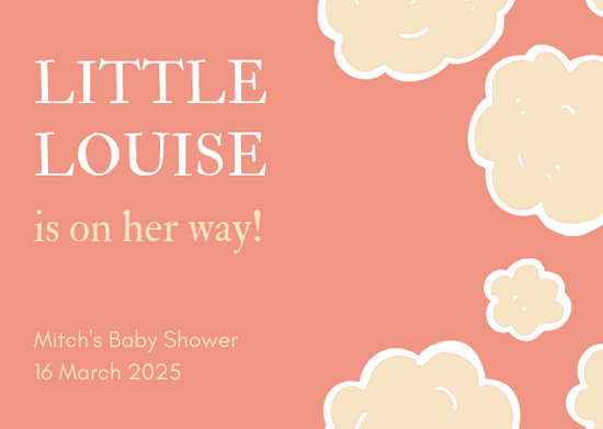 Customize 345+ Baby Shower Card templates online - Canva