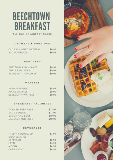 Green Food Price List - Templates by Canva