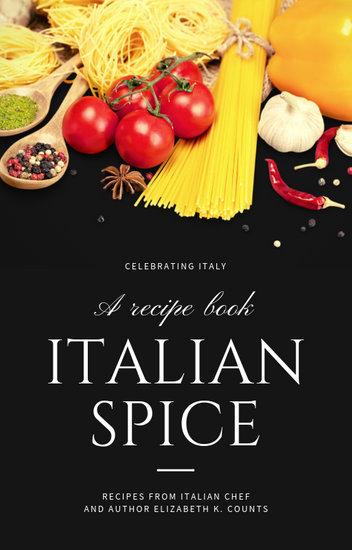 Black Italian Photo of Italian Ingredients Recipe Book Cover
