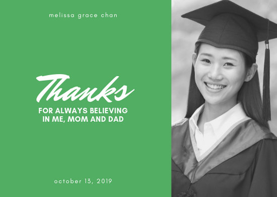 Customize 24+ Graduation Thank You Card templates online - Canva