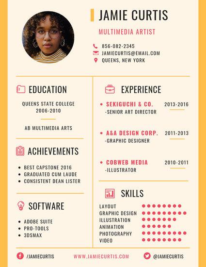 Customize 1,079+ Resume templates online - Canva