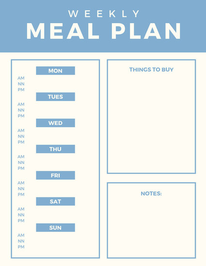Customize 204+ Meal Planner Menu templates online - Canva