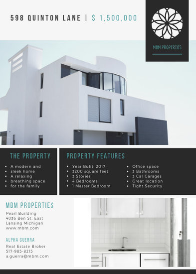 Modern House Real Estate Flyer - Templates by Canva