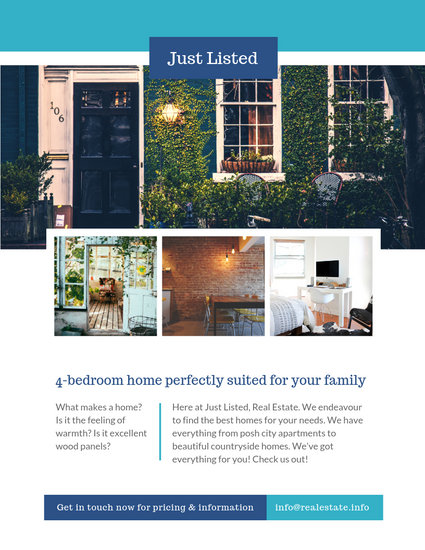 Real Estate Flyer - Templates by Canva