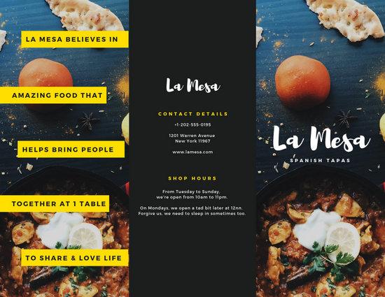 Spanish Restaurant Brochure - Templates by Canva
