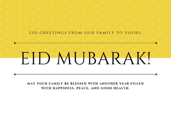 Customize 44+ Eid Al-Fitr Card templates online - Canva