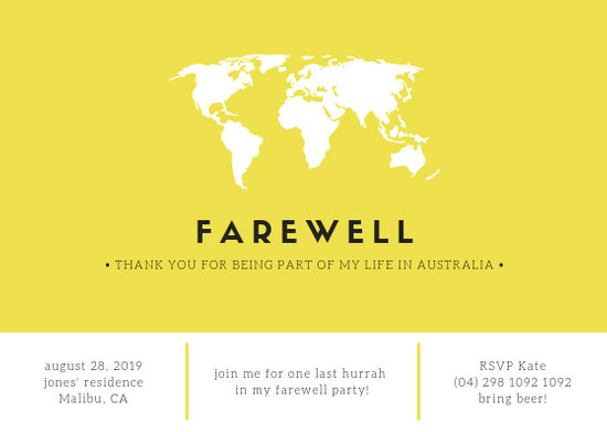 Customize 2,892+ Farewell Party Invitation templates online - Canva