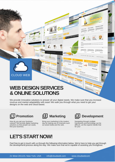 Web Design Services Promotional Advertising Poster - Templates by Canva