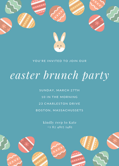 Easter Eggs Brunch Party Flyer - Templates by Canva