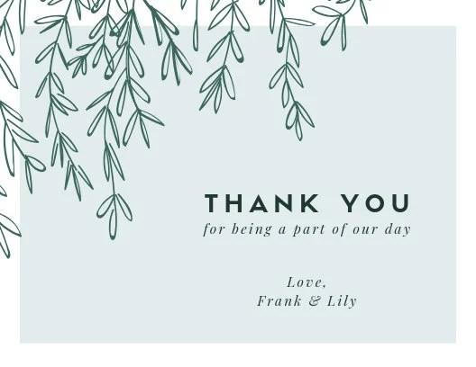 Customize 83+ Wedding Thank You Card templates online - Canva